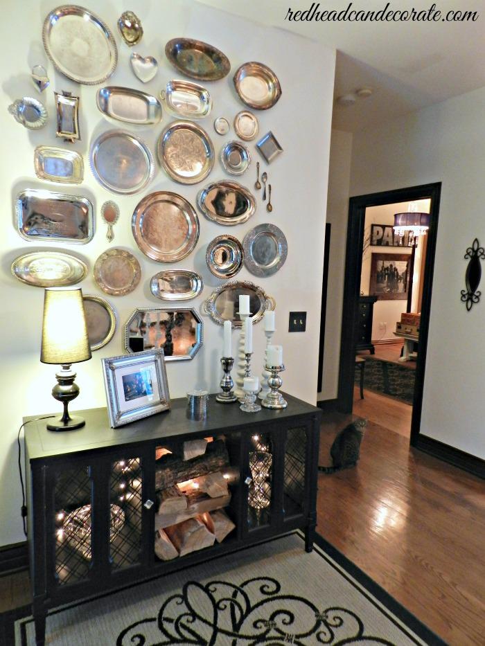 Silver Platter Wall Idea