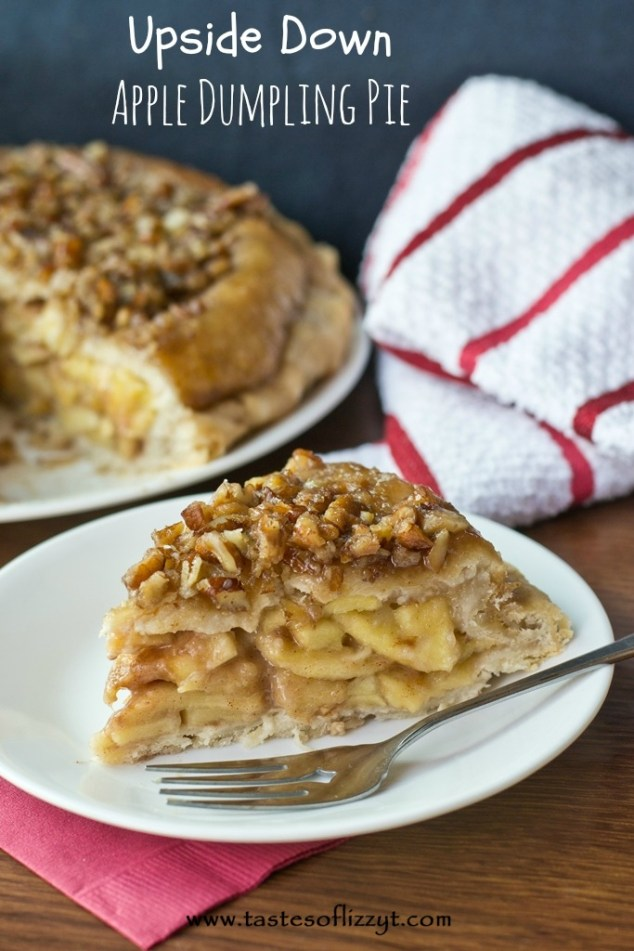 Upside Down Apple Dumpling Pie {Tastes of Lizzy T}