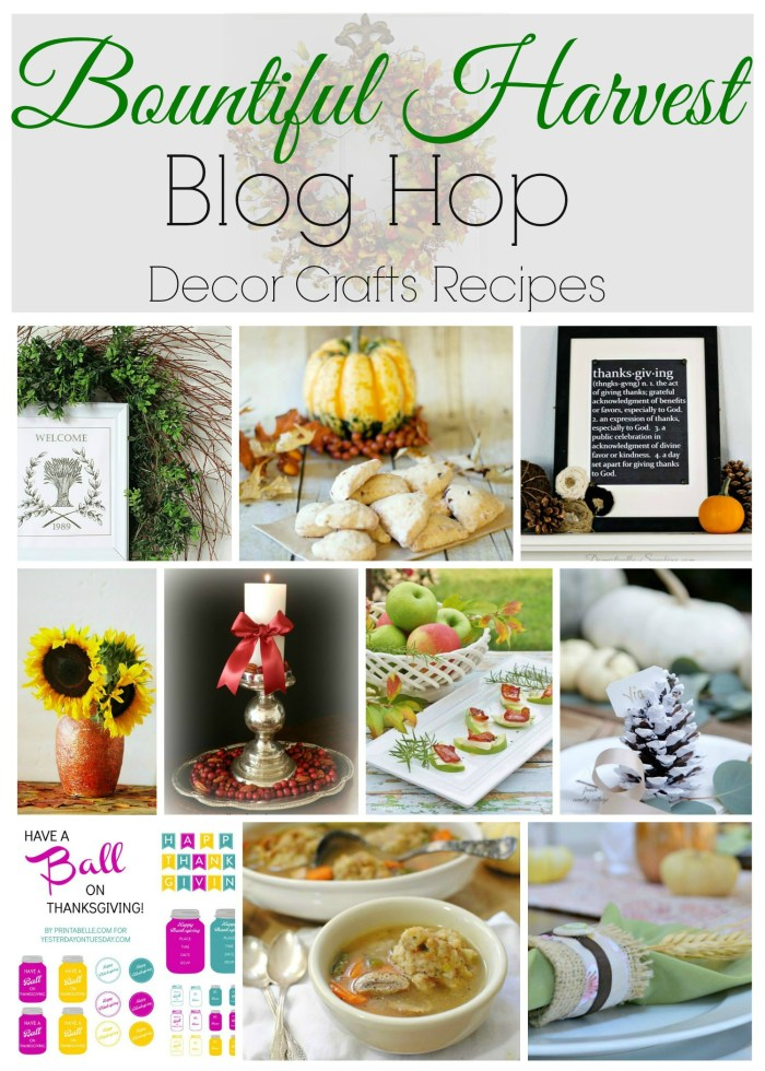Bountiful Harvest Blog Hop