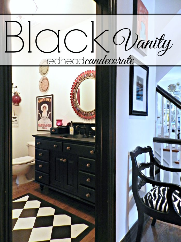 Vanity Makeover by Redhead Can Decorate
