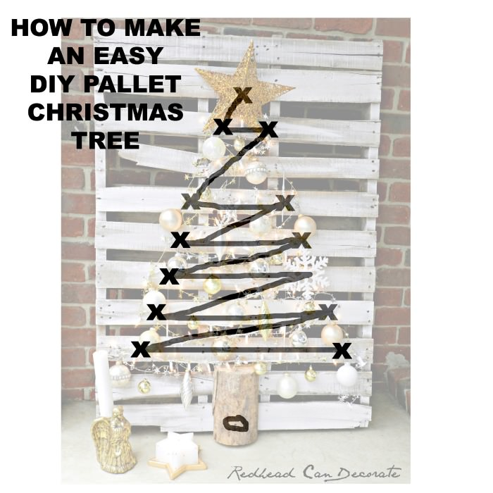 pallet christmas tree. how to make an easy diy pallet christmas tree