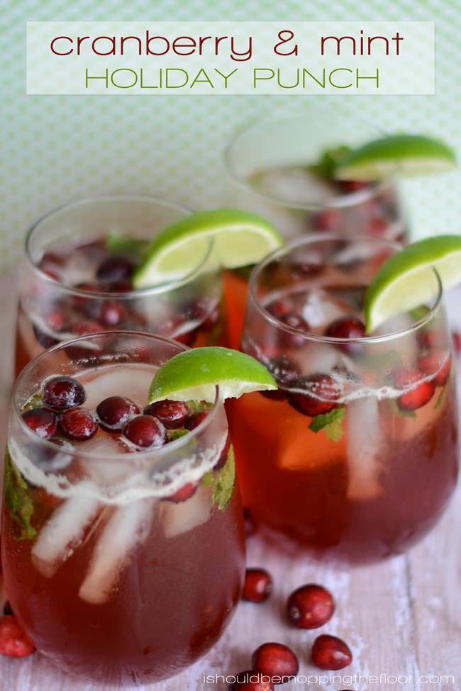 cranberry mint punch