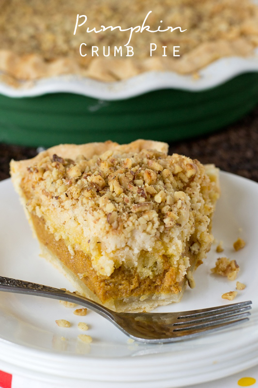 "Traditional pumpkin pie topped with an amazing cake mix crumb topping. Named ""Best Fall Dessert Ever"" by our family!"
