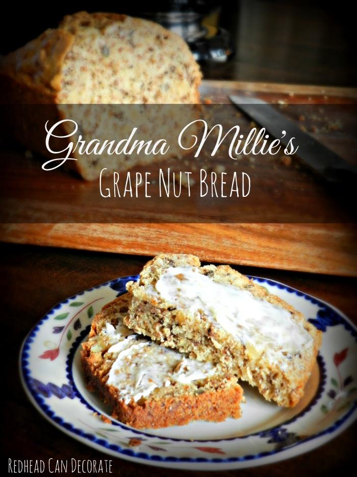 Grape Nut Bread