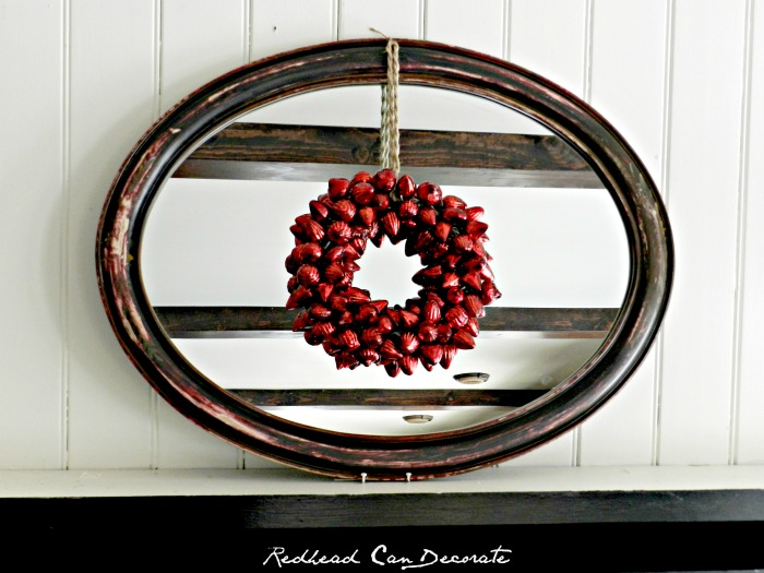 Pretty Vintage Christmas Bulb Wreath