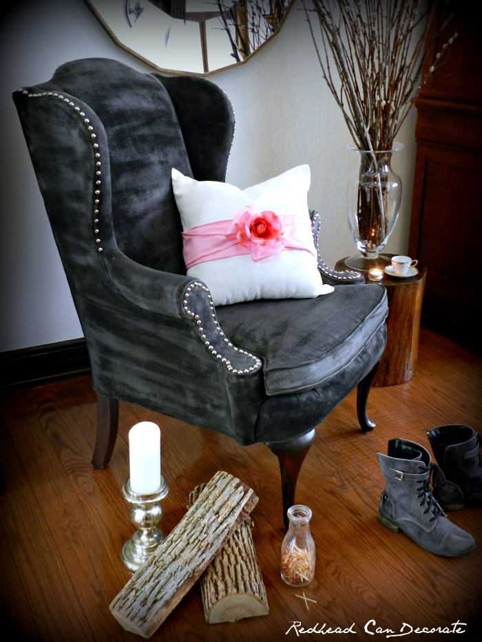 Pretty Pillow Makeover by Redhead Can Decorate