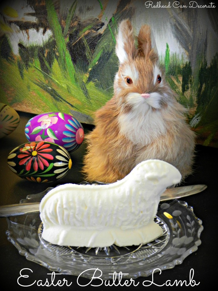 Easter Butter Lamb  Redhead Can Decorate