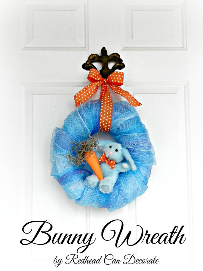 Easy Blue Bunny Wreath
