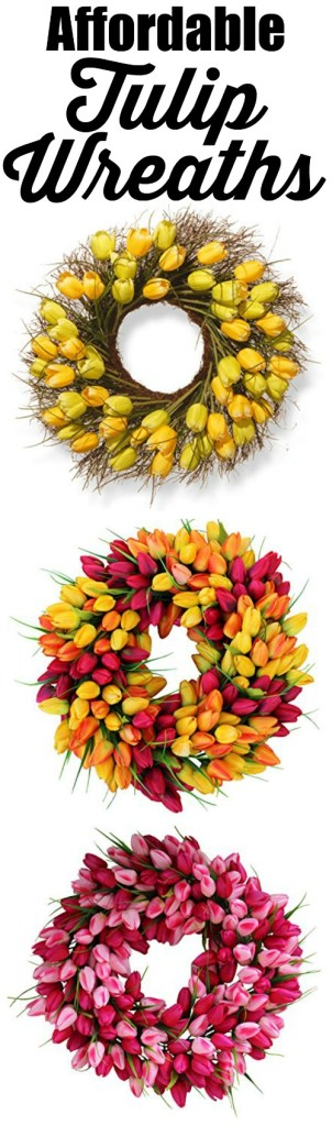 These are the most beautiful tulip wreaths I have ever seen, and for a great price.