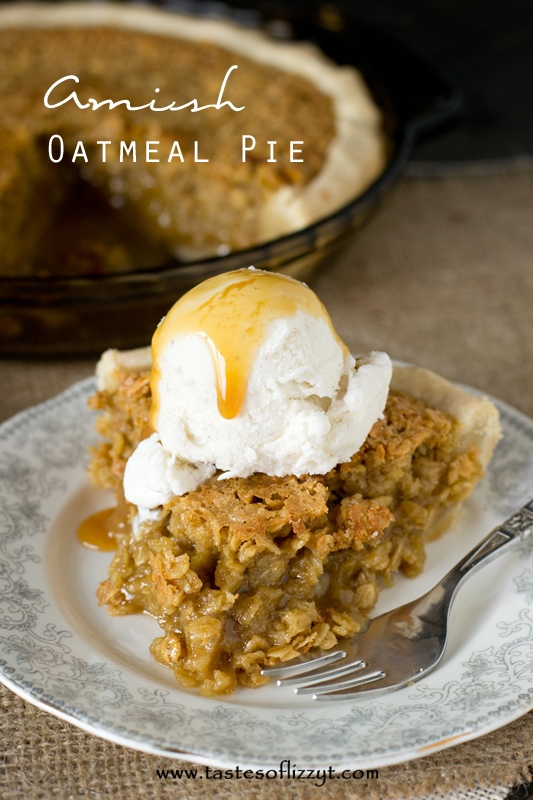 Amish Oatmeal Pie Recipe - Tastes of Lizzy T