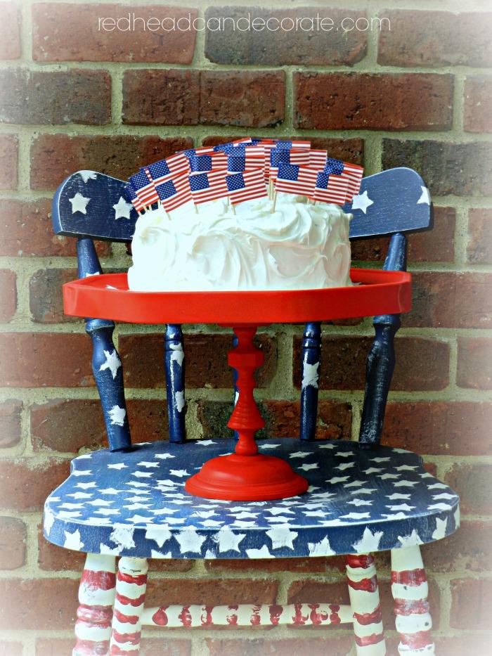 DIY Red Cake Plate