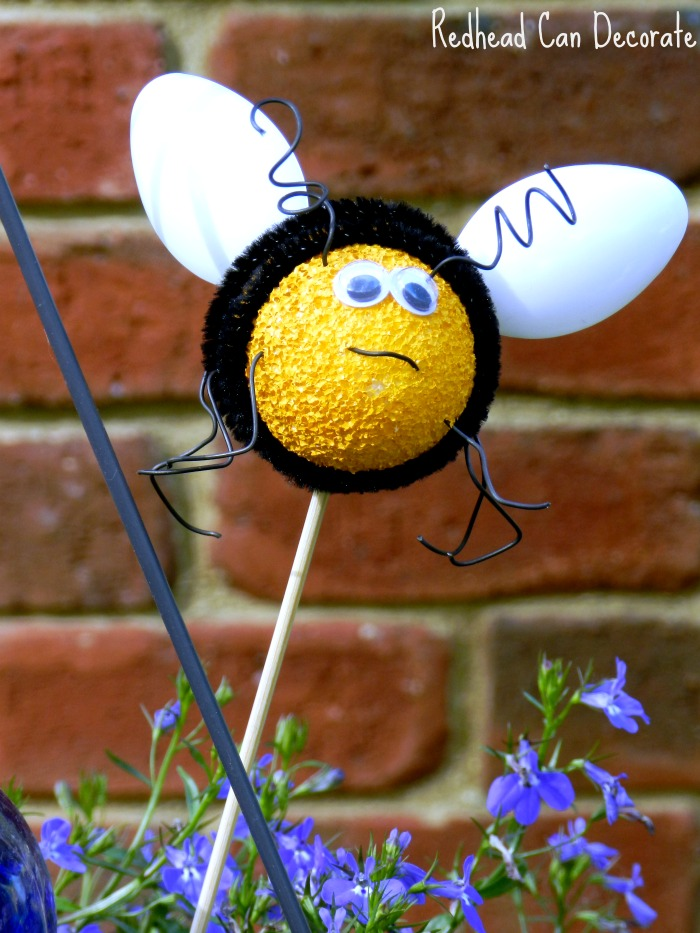 Make Bees With Kids Using Foam Eggs Plastic Spoons