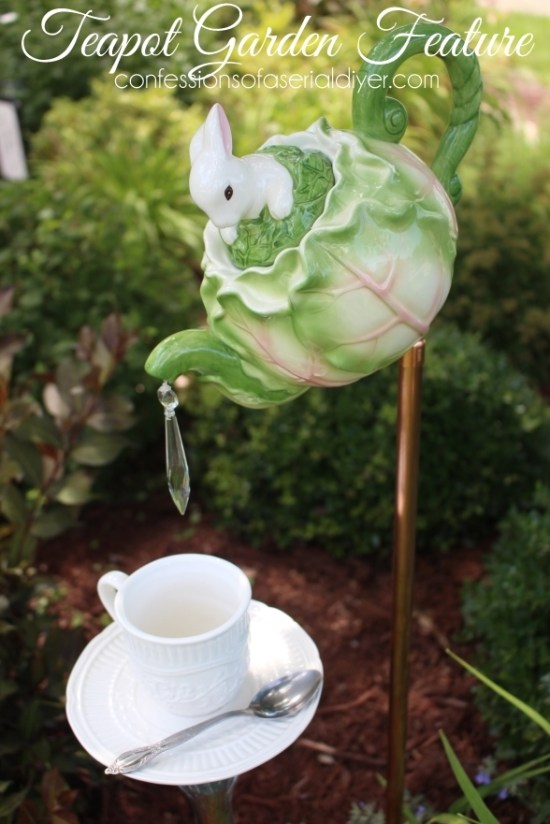 Teapot Garden Feature...perfect for Mother's Day!