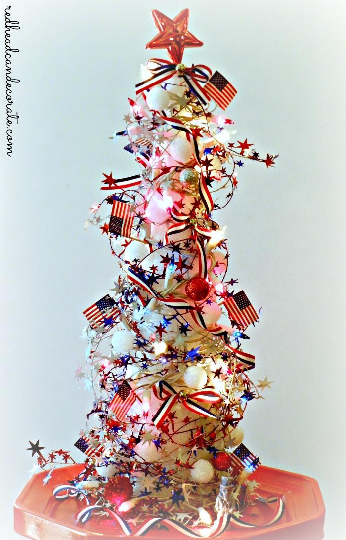 Foam Fourth of July Christmas Tree