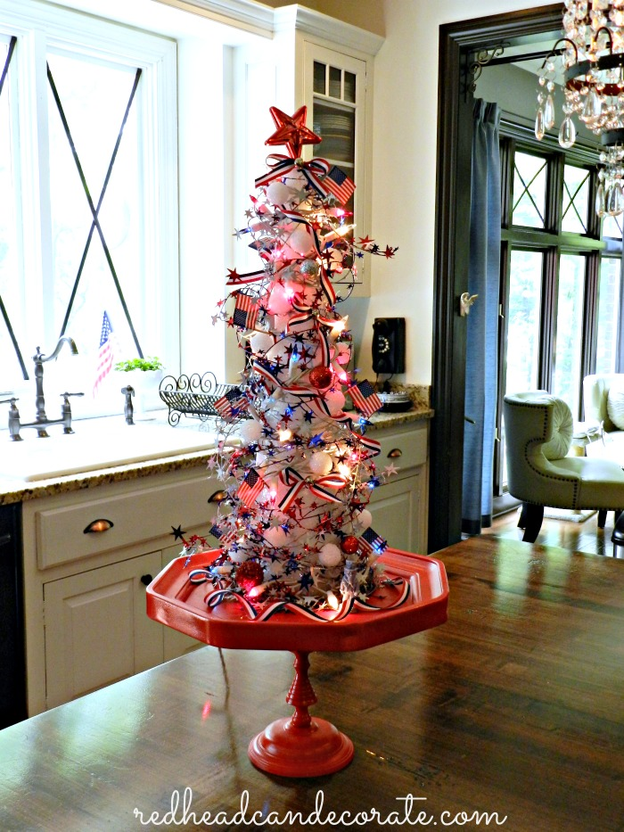 Fourth of July Christmas Tree