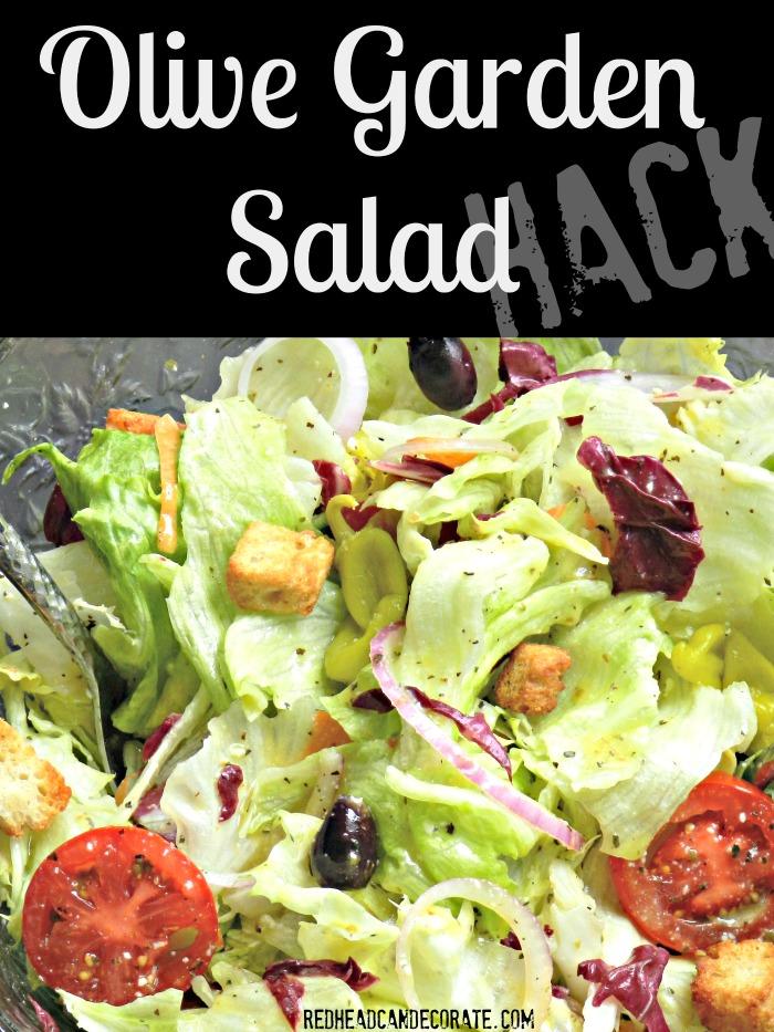 Olive garden salad hack redhead can decorate - Olive garden italian salad dressing recipe ...