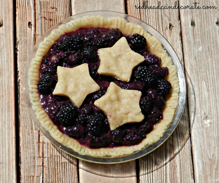 My Black Berry Pie ...right before I baked it. This recipe is so easy and delicious.