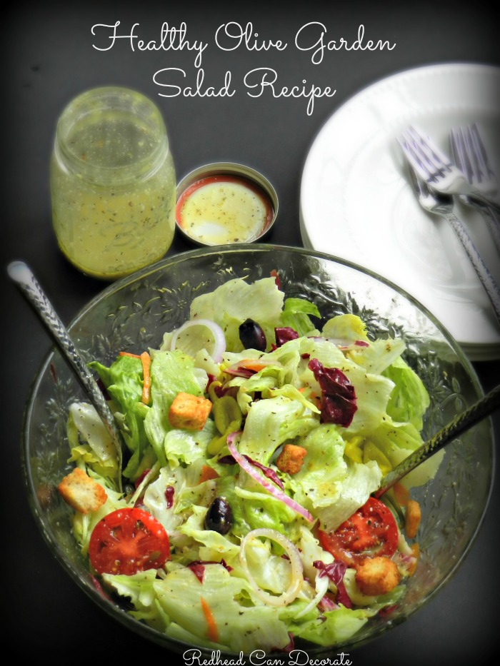 Olive garden salad hack redhead can decorate for Olive garden salad dressing ingredients