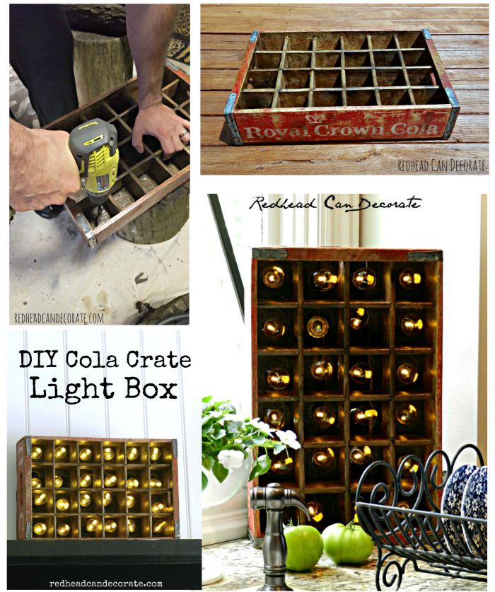 DIY Cola Crate Light Fixture
