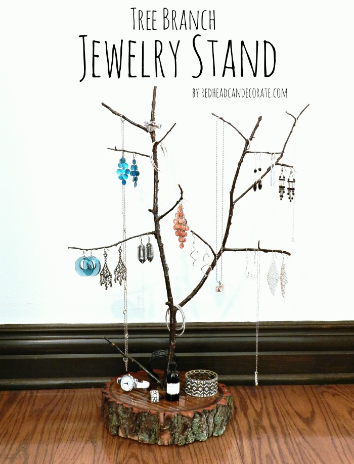 Tree Branch Jewelry Holder : branch, jewelry, holder, Branch, Jewelry, Stand, Redhead, Decorate