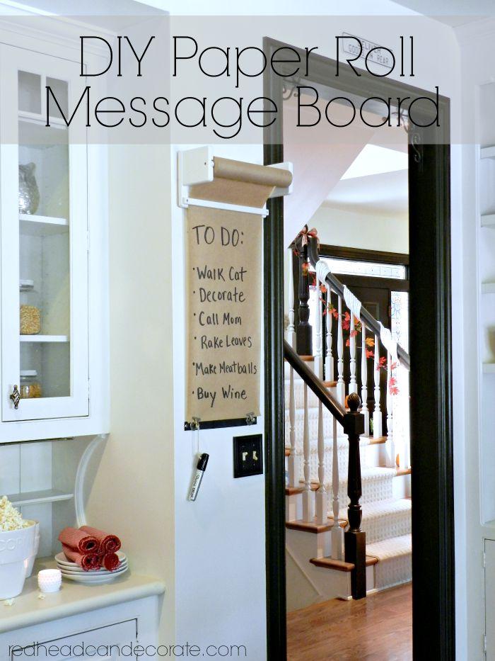 DIY Paper Roll Message Board