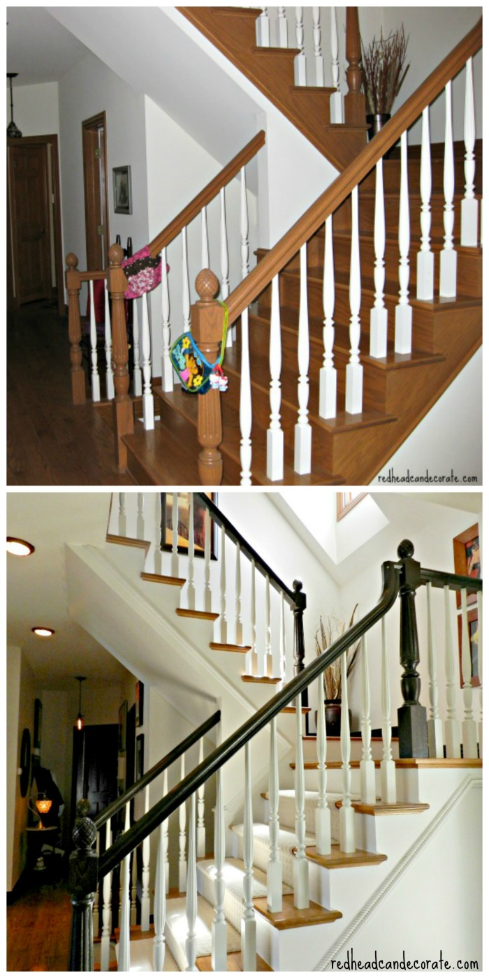 Staircase Makeover from Redheadcandecorate.com