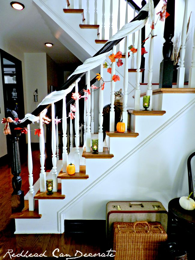 Use a scarf in your Fall decorating!
