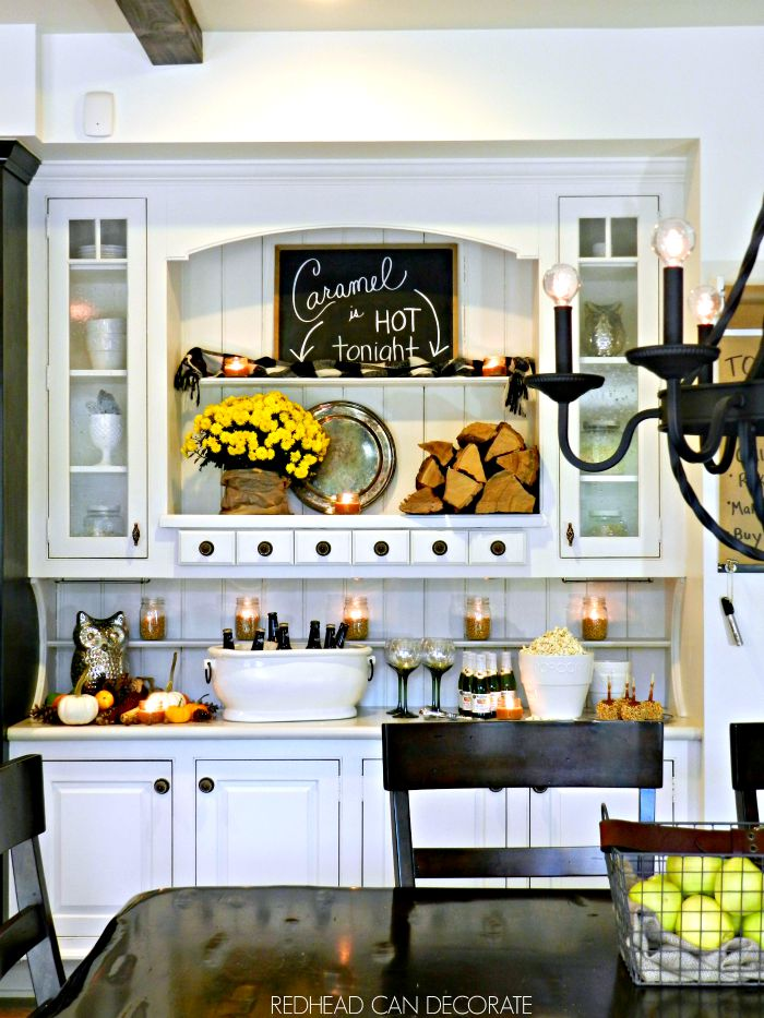 White Hutch for Fall
