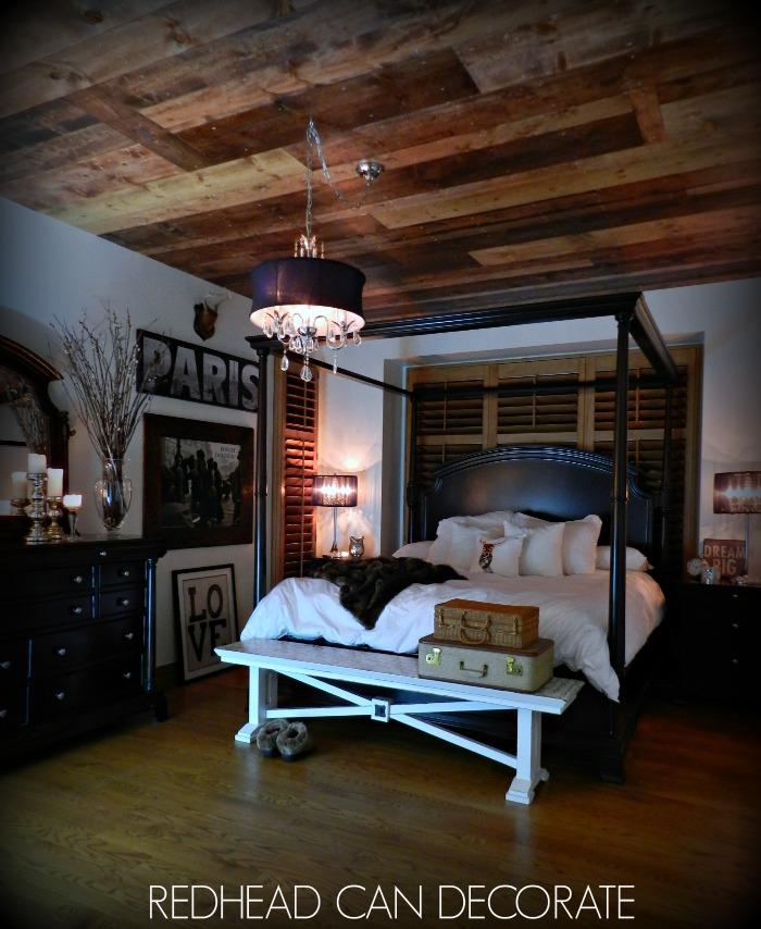DIY Planked Wood Ceiling