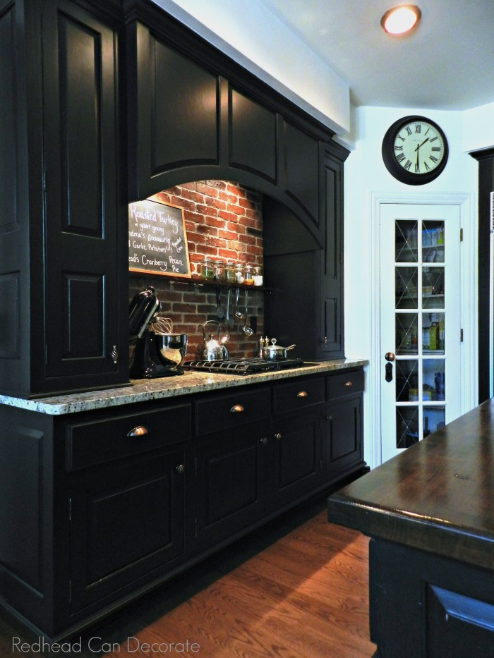 Red Brick Fireplace Makeover Diy Brick Backsplash - Redhead Can Decorate