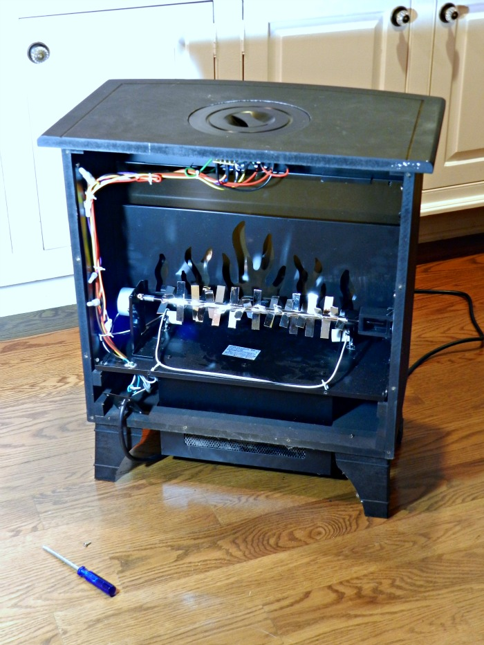 wood burner stove guts