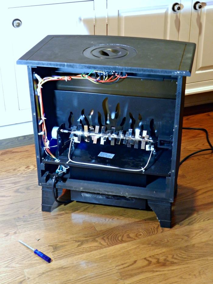 wood burner stove guts