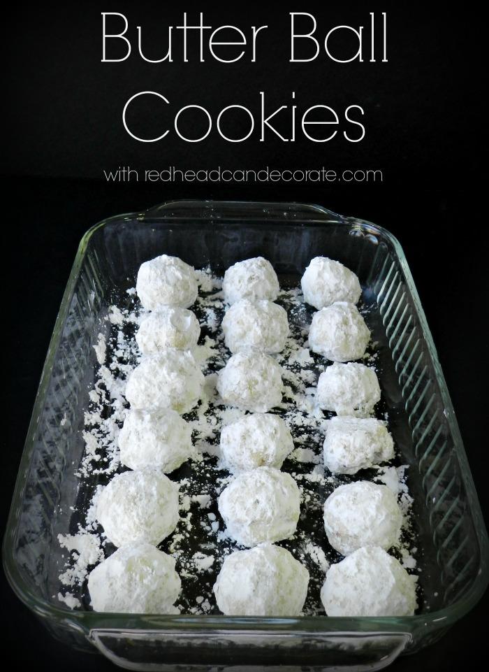 Butter Ball Christmas Cookies