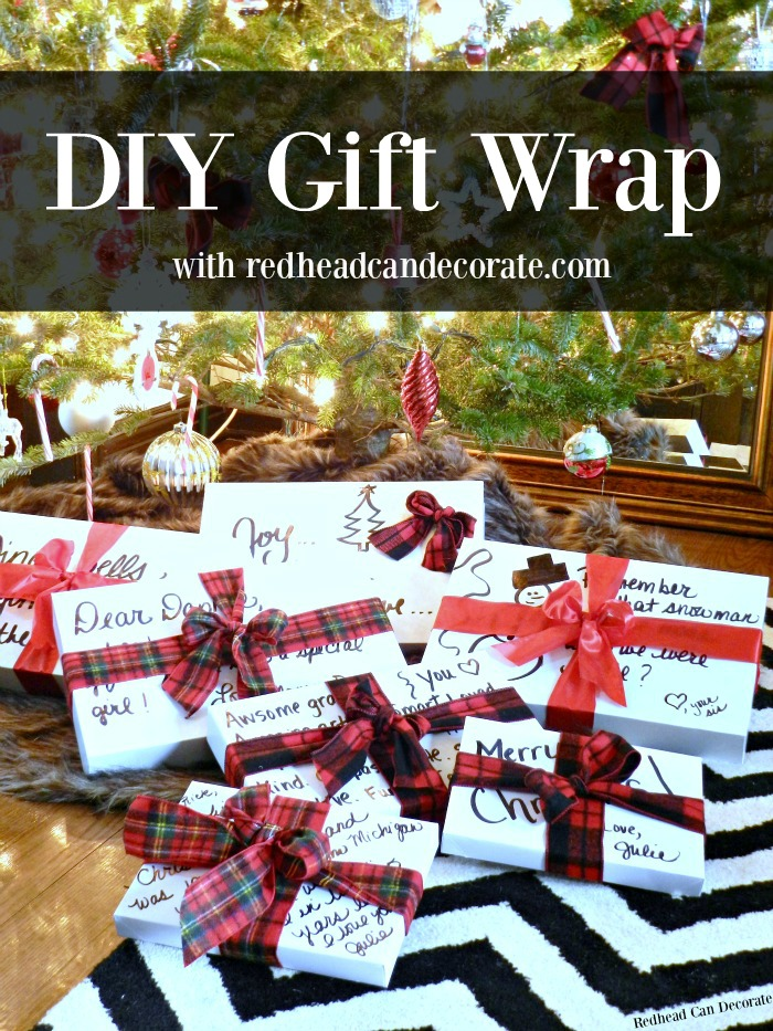 Easy DIY Gift Wrap with redheadcandecorate.com