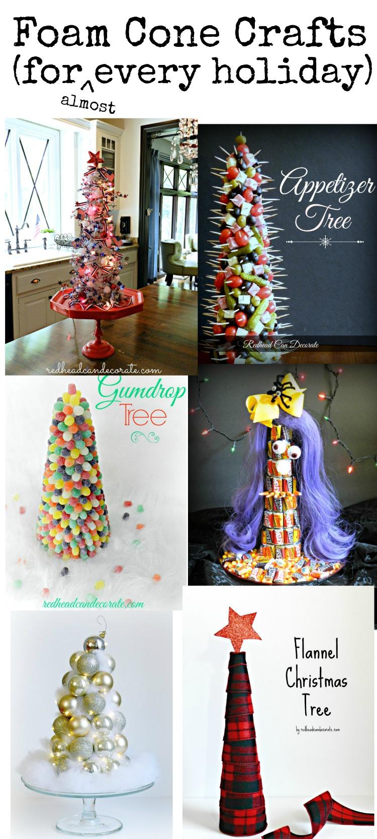 Foam Cone Holiday Crafts