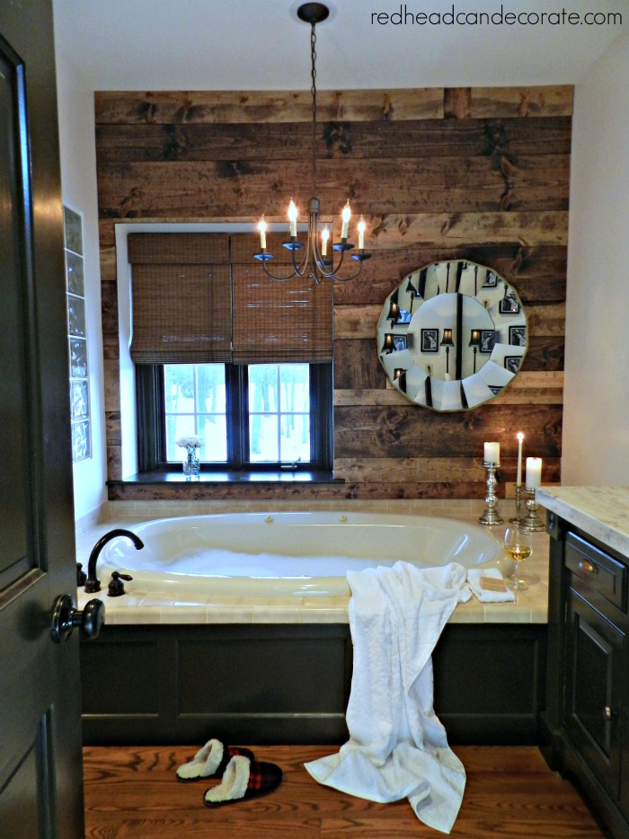 Diy Wood Planked Wall Redhead Can Decorate
