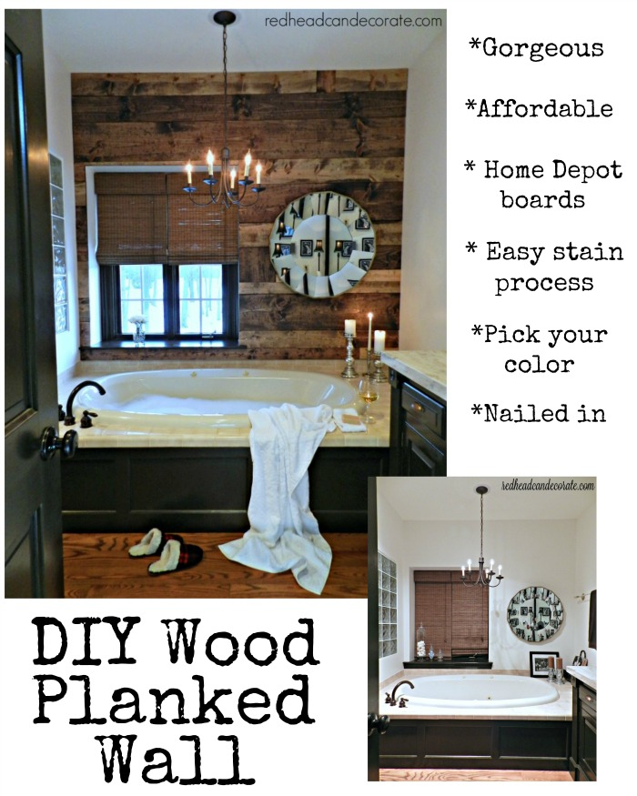 Planked Wall by redheadcandecorate.com