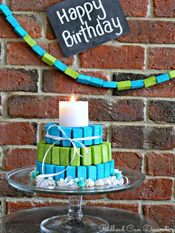 Foam Birthday Cake