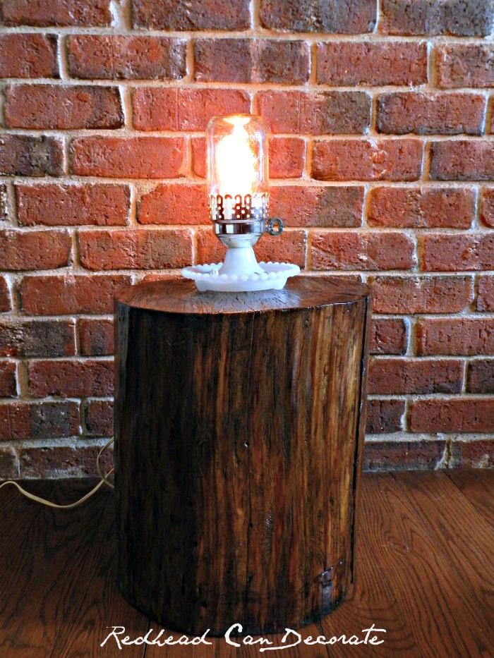 Vintage Hobnail Lamp Makeover