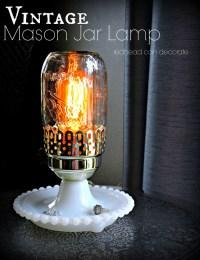 Vintage Mason Jar Lamp - Redhead Can Decorate
