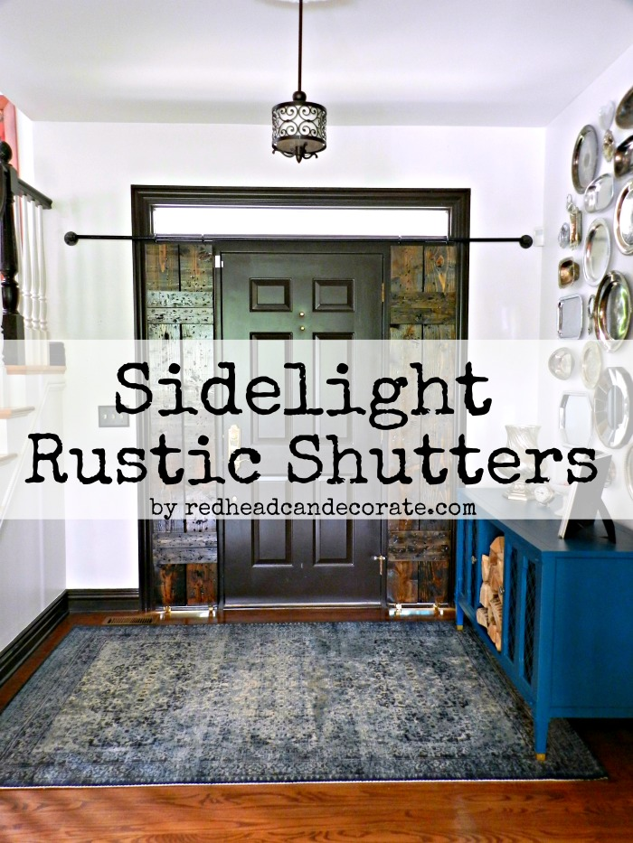 Diy Sidelight Wood Shutters Redhead Can Decorate