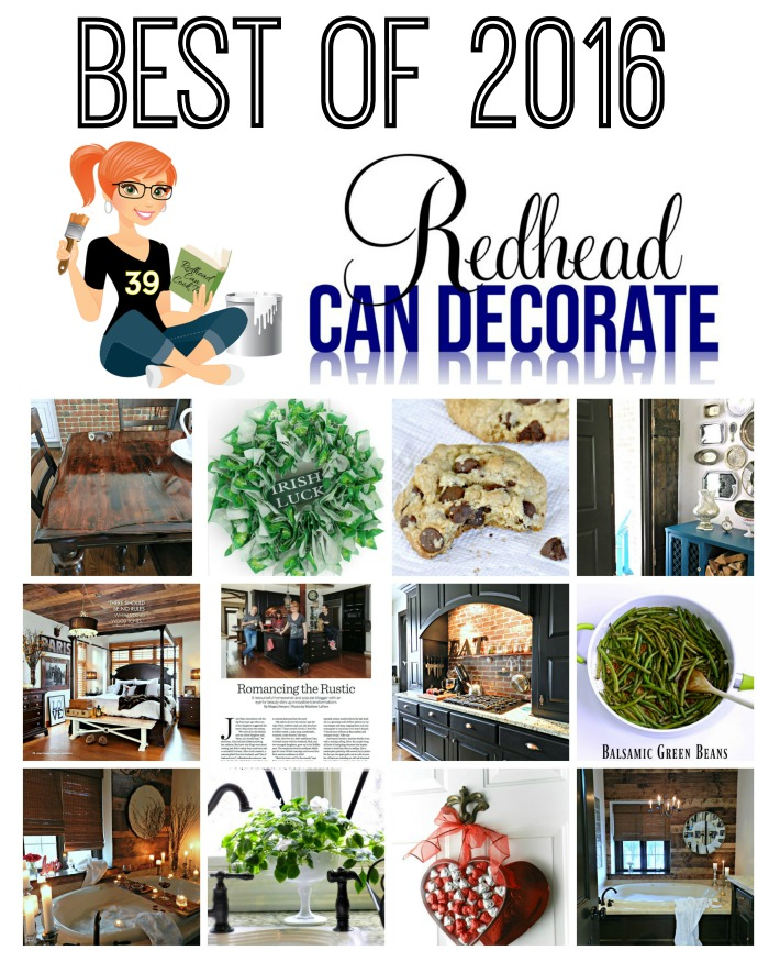 This redhead really knows how to decorate on budget! She also has some excellent recipes including low carb. Check out her best from 2016 here: