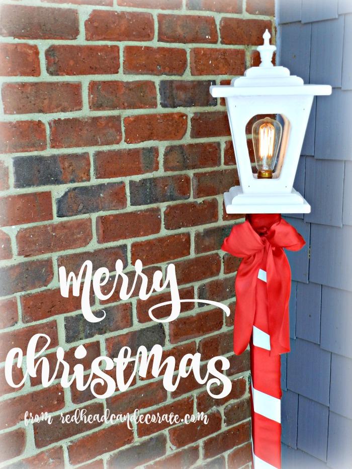 Christmas Light Post Makeover