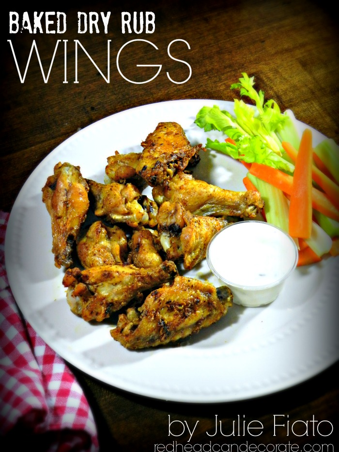 Baked Dry Rub Chicken Wings