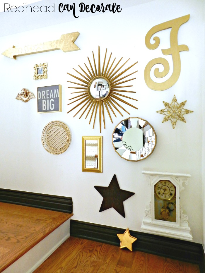 Stair Gallery Wall Makeover