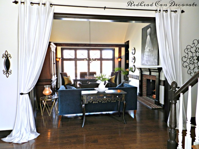 Grommet Panel Curtains for Living Room Entrance - Redhead Can Decorate