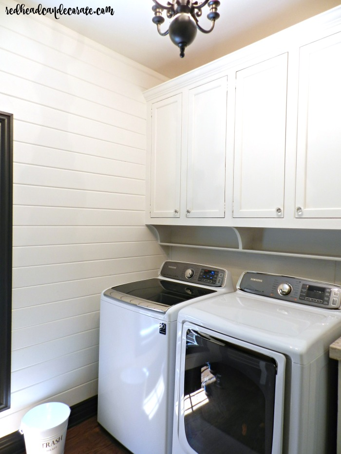 This Laundry Room Makeover Is A Must See! She Included A DIY Wood Tongue
