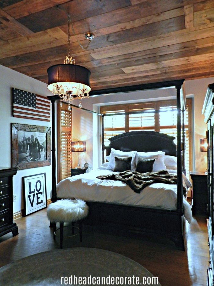 patriotic master bedroom