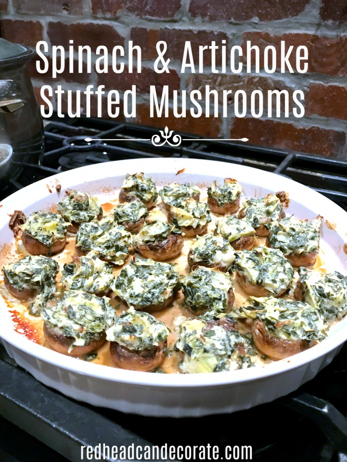 These stuffed mushrooms sound easy to make and are low carb!