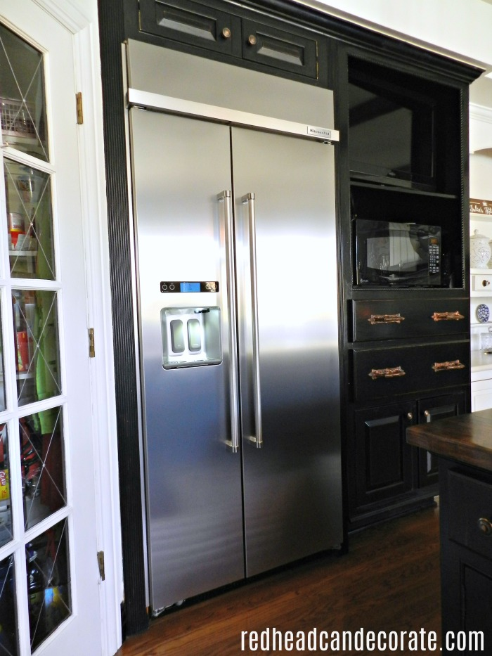 What A Beautiful Built In Refrigerator Transformation. This 1994 Old  Sub Zero